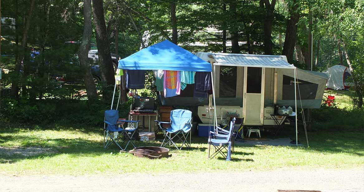 Peaceful, Quiet Camping on Aldrich Mill Pond